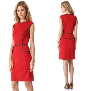 Tory Burch Violet Sleeveless Ponte Red Dress